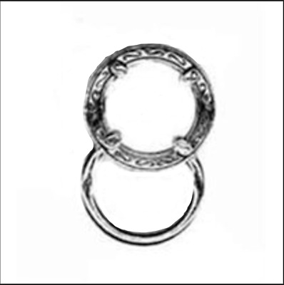 Magnetic Eyeglass Holder Clip- Round Silver