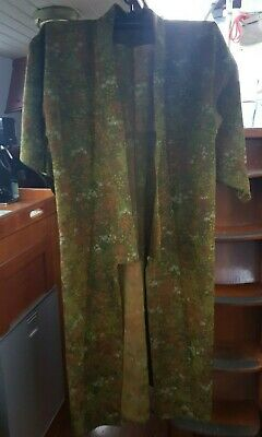 Lovely Green And Floral Patterned Silk Vintage Japanese Full Length Kimono