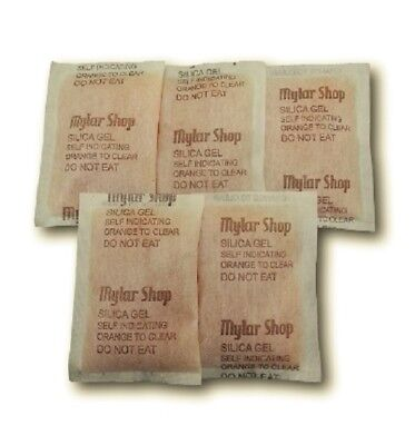 10 x 60g self indicating silica gel desiccant sachets remove moisture, reusable