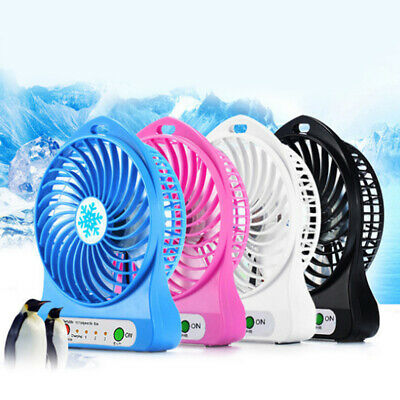 Portable Mini Fan USB Rechargeable Fan with LED Light Handheld Speed Adjustable