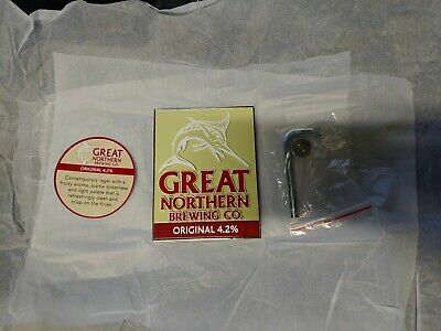 Great Northern Brewing Co. Original Metal Beer Decal Tap Handle Badge Brand New