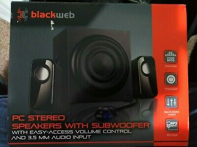BLACKWEB PC STEREO Speaker System With Subwoofer