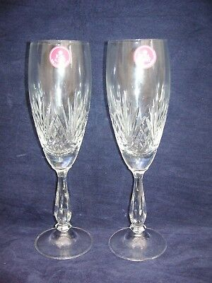 """new Royal Albert Crystal, Pair Of Champagne Glasses, 8 1/2"""" Tall"""