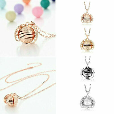 Expanding Photo Locket Necklace Silver Ball Angel Wing Pendant Memorial Gifts UK