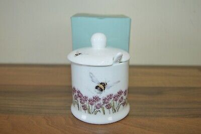 Royal Worcester Wrendale by Hannah Dale - Preserve / Jam Pot and Spoon BNIB