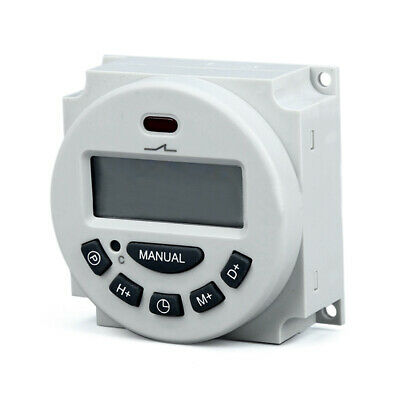 Microcomputer LCD Digital Programmable Electronic Relay Switch Time Timer UK