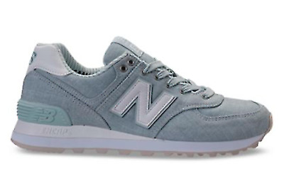 brand new 7dc47 835cc NEW BALANCE WOMEN Core 574CHF Beach Chambray Sneakers, Light Porcelain
