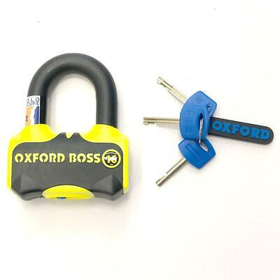Oxford Boss 16mm Sold Secure Gold Motorcycle Disc lock