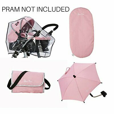 Silver Cross Ultimate Dolls Pram Accessory Pack - Vintage Pink Fabric