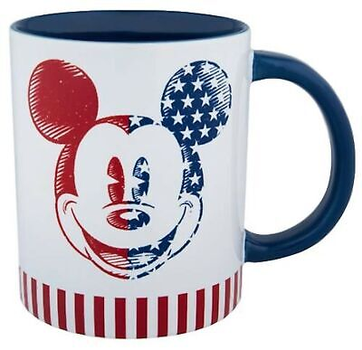 Disney Parks Exclusive - Mickey Americana Laugh and Love Stoneware Mug