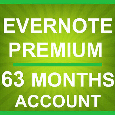 Brand New Evernote 75 Months 6 Year and 3 Months Premium Account Only $132.95