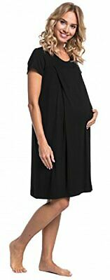 HAPPY MAMA. Womens Labor Delivery Hospital Gown Breastfeeding Maternity. 434p Bl