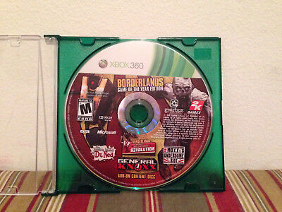 Borderlands -- Game of the Year Edition  Xbox 360 Add-on content disc ONLY