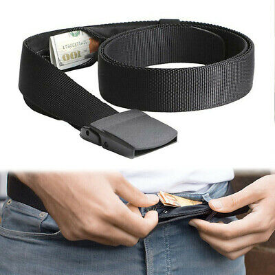 QU Travel Security Belt Hidden Money Pouch Money Wallet Pocket Waist Belt Safe