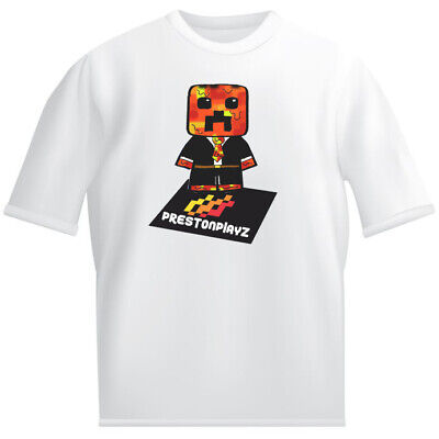prestonplayz Kids White T shirt childrens Youtube gaming preston 3d