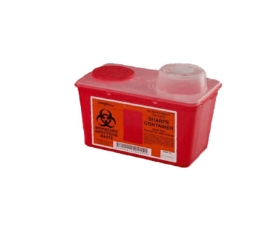 2 PACK! Sharps 4 Quart Container Biohazard Needle Disposal 4 Qt Sharp Collector