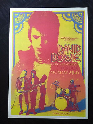 David Bowie: Odeon Hammersmith London Reproduction A3 Concert Reprint