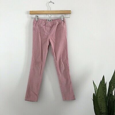 ca0d9e614e646 Mini Boden Girls 9Y 9 Light Pink Corduroy Skinny Slim Pants Elastic Waist B3