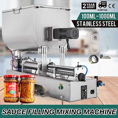 100-1000ml Liquid Paste Filling Mixing Machine  Adjustable Filling Machine Paste