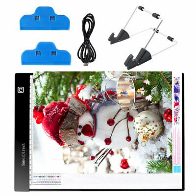 QU A4 LED Light Pad Dimmable Tracing Drawing Light Board Pad Detachable Stand Cl