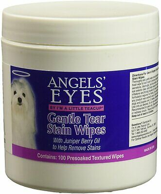 Gentle Tear Stain Wipes, ANGELS' EYES, 100 count 12 pack