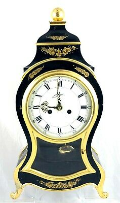 Victorian Style Schmid Lacquered Mantle Clock With Mechanical Movement