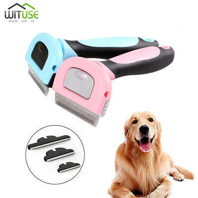Pet Cats Dogs Fur Hair Remover Deshedding Comb Rake Tool Grooming Brush S/M/L A
