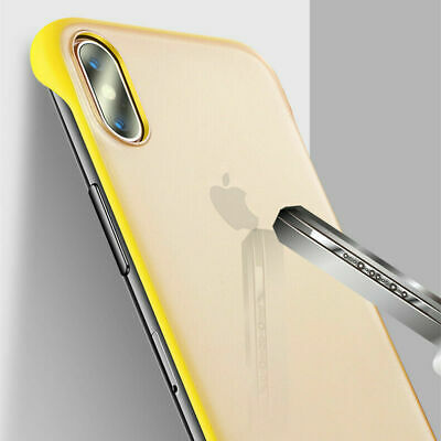 For iPhone 7 8 X XS Max Ultra Thin Frameless Acrylic Matte Shockproof Cover Case