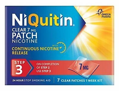 NiQuitin Clear 24 Hour 7 Patches Step 3, 7mg - 1 Week Kit