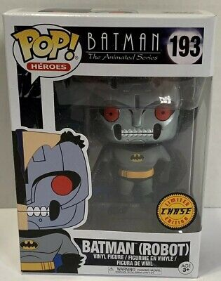 Funko Pop BATMAN (Robot) CHASE #193 1/6 Rarity Full Metal Head