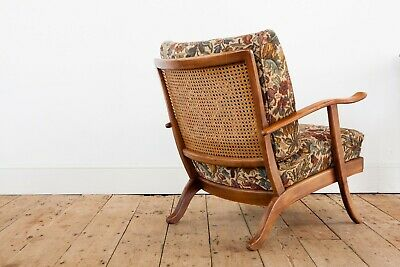Gorgeous French Frateuil - Armchair with Rattan Back