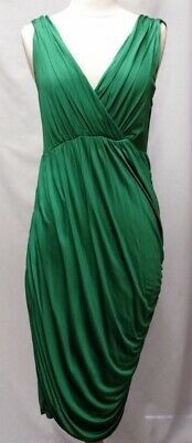 79225ae5f2af M Deletta Anthropologie Emerald Wicklow green jersey knit ruched dress