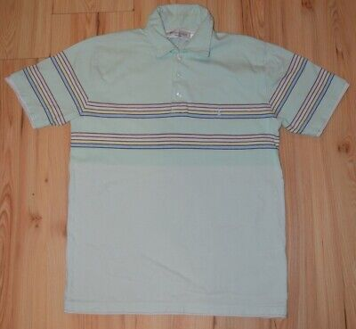 6a1605aa2 Yves Saint Laurent YSL Pour Homme Polo T Shirt Vintage Authentic Blue  Striped S