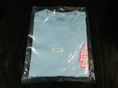 15d995e8b7d0 ASSC Antisocial Social Club Blocked Logo Sky Blue Tee (M) New Dead Stock