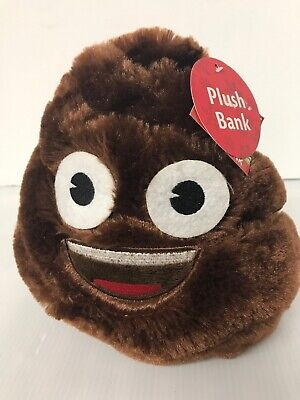 "Poop Emoji Plush Bank Toy Inches Pillow Cushion Soft Stuffed 8"" Tall New"