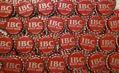 100 Red IBC Root Beer Bottle Caps (No Dents)
