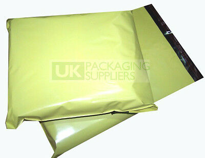 "Yellow Plastic Polythene Poly Mailing Bags 10x14"" Postage Pouches CHOOSE A QTY"