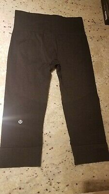 94ddeabde737a8 LULULEMON ATHLETICA 6 Cropped Leggings Dark Gray - $21.99 | PicClick