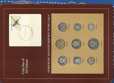 Coin Sets of All Nations Sri Lanka UNC 1978-1988 5 cents 1988 SCARCE