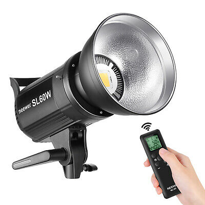 60W LED Video Light White 5600K with Remote Control and Reflector Bowens Mount