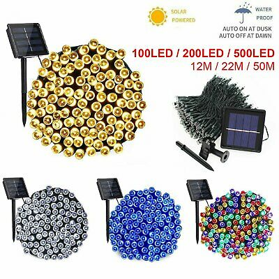 Outdoor Fairy Lights 100-500 LED Waterproof Warm White Christmas Tree Solar