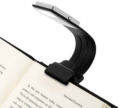 Clip On Book Light Reading Lamp Eye Care Double As Bookmark 4 USB Rechargeable