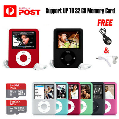 iPod Style LCD With Up Music Video Media Player FM Radio MP3 MP4 TO 32GB Memory