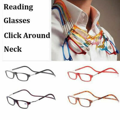 Click Adjustable Magnetic Front Connect Reading Eyeglasses Full Rim Glasses zz