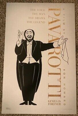 Pavarotti 2019 Movie Limited Edition Exclusive Poster Cinemark Ron Howard Rare