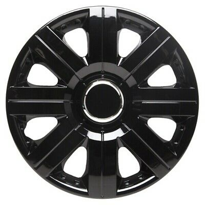 TopTech Torque 15 Inch Wheel Trim Set Gloss Black Set of 4 Hub Caps Covers
