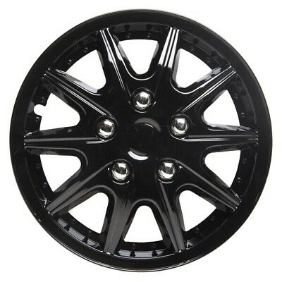 TopTech Revolution 15 Inch Wheel Trim Set Gloss Black Set of 4 Hub Caps Covers