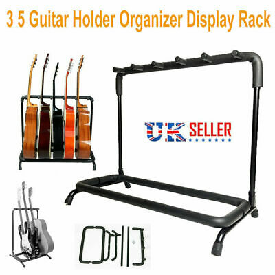 3/5 Way Multi Guitar Rack Padded Holder Ukulele Stand Electric Acoustic Bass