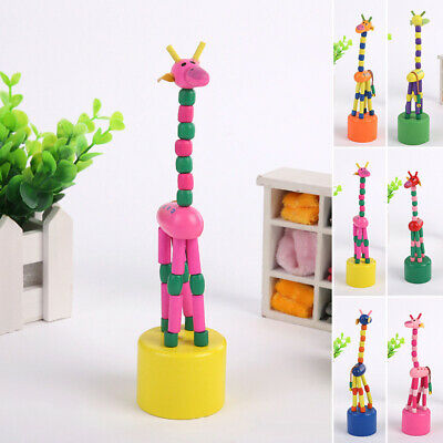 Wood Puppet Wooden Funny Giraffe Toy Colorful 1pcs For Kids Gift Christmas New
