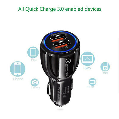 Dual Usb 3.1A Qc 3.0 Fast Quick Charge Car Charger Cigarette Lighter Adapter Kit